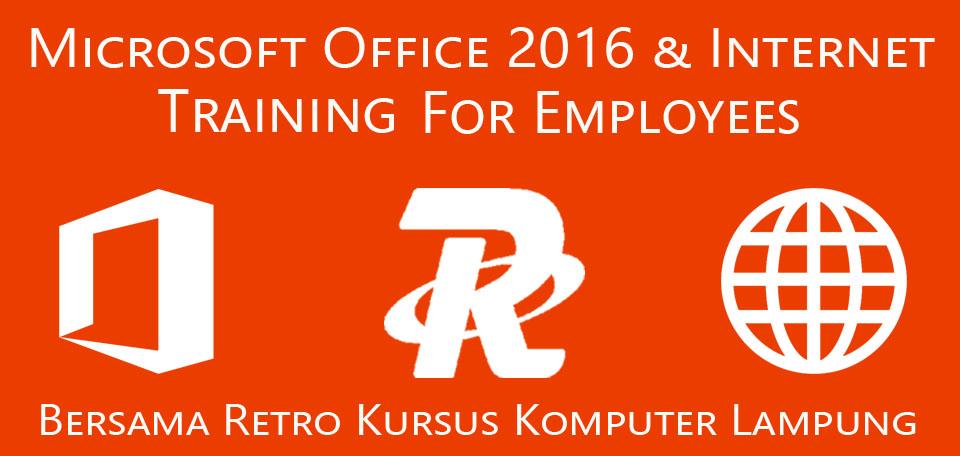 office 2016 training with retro kursus komputer lampung