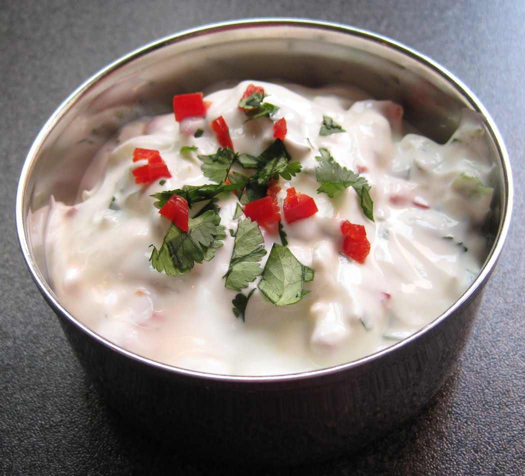 Coriander and Red Chilli Raita