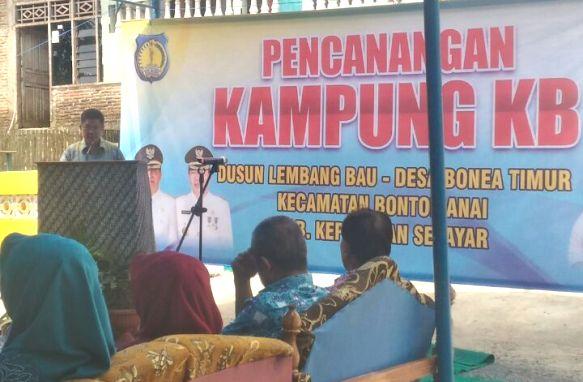 Pemkab Kep. Selayar, Canangan Kampung KB Di Desa Bone Timur