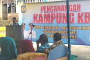 Pemkab Kep. Selayar Canangan Kampung KB Desa Bonea Timur