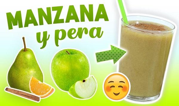 modo de preparacion de licuado de pera con manzana verde para bajar de peso