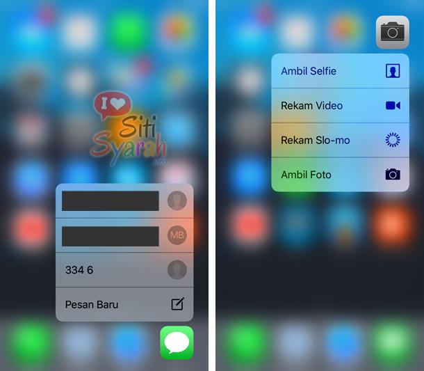cara menggunakan 3D touch di iPhone