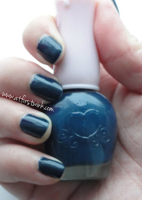 Etude House nail polish DBL602 - Maybe Navy
