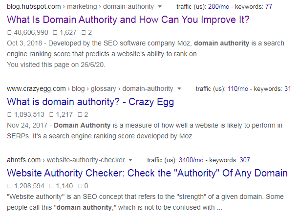 meta tag for domain authority
