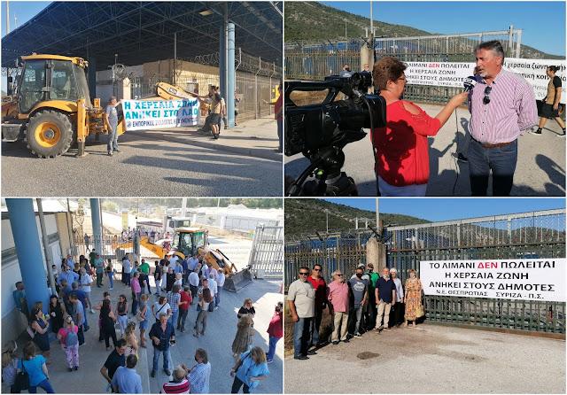 Έκλεισαν το λιμάνι της Ηγουμενίτσας για 2 ώρες (ΦΩΤΟ+ΒΙΝΤΕΟ)