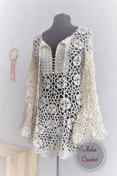 crochet granny square tunic pattern