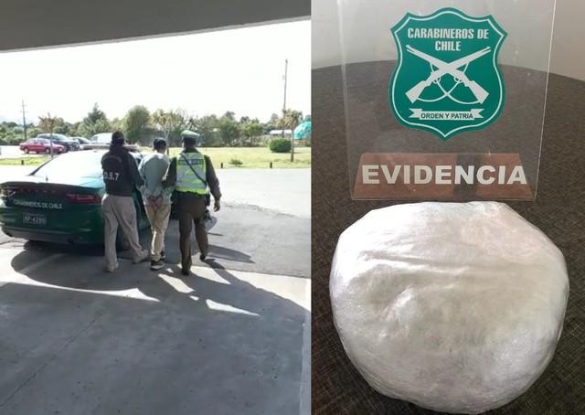 Carabineros incautó droga durante fiscalización en la Ruta 5 Sur