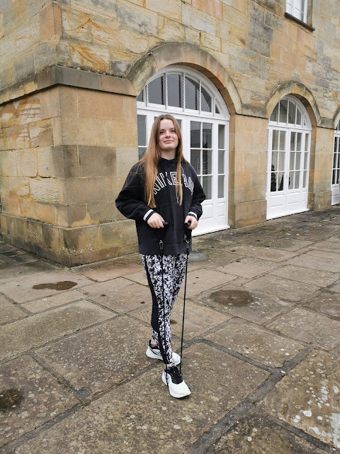 Teenage girl shares ideas for exercising options during lockdown in the UK
