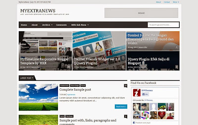 My Extra News - Magazine Responsive SEO Blogger Template