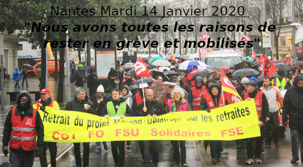 Mardi Mardi 14 Janvier: NOUS AVONS TOUTES LES RAISONS DE RESTER EN GRÈVE ET MOBILISÉS