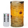 Comenzar Flameless Candles Real Wax Birch Bark Effect LED Candles 6