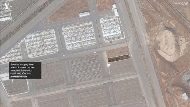 Hố chôn nạn nhân Covid-19 của Iran to lớn đến mức có thể nhìn thấy từ ngoài vũ trụ