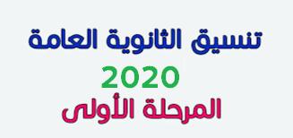 كتابة رغبات تنسيق الثانوية العامة وموعد المرحلة الأولى لتنسيق 2020
