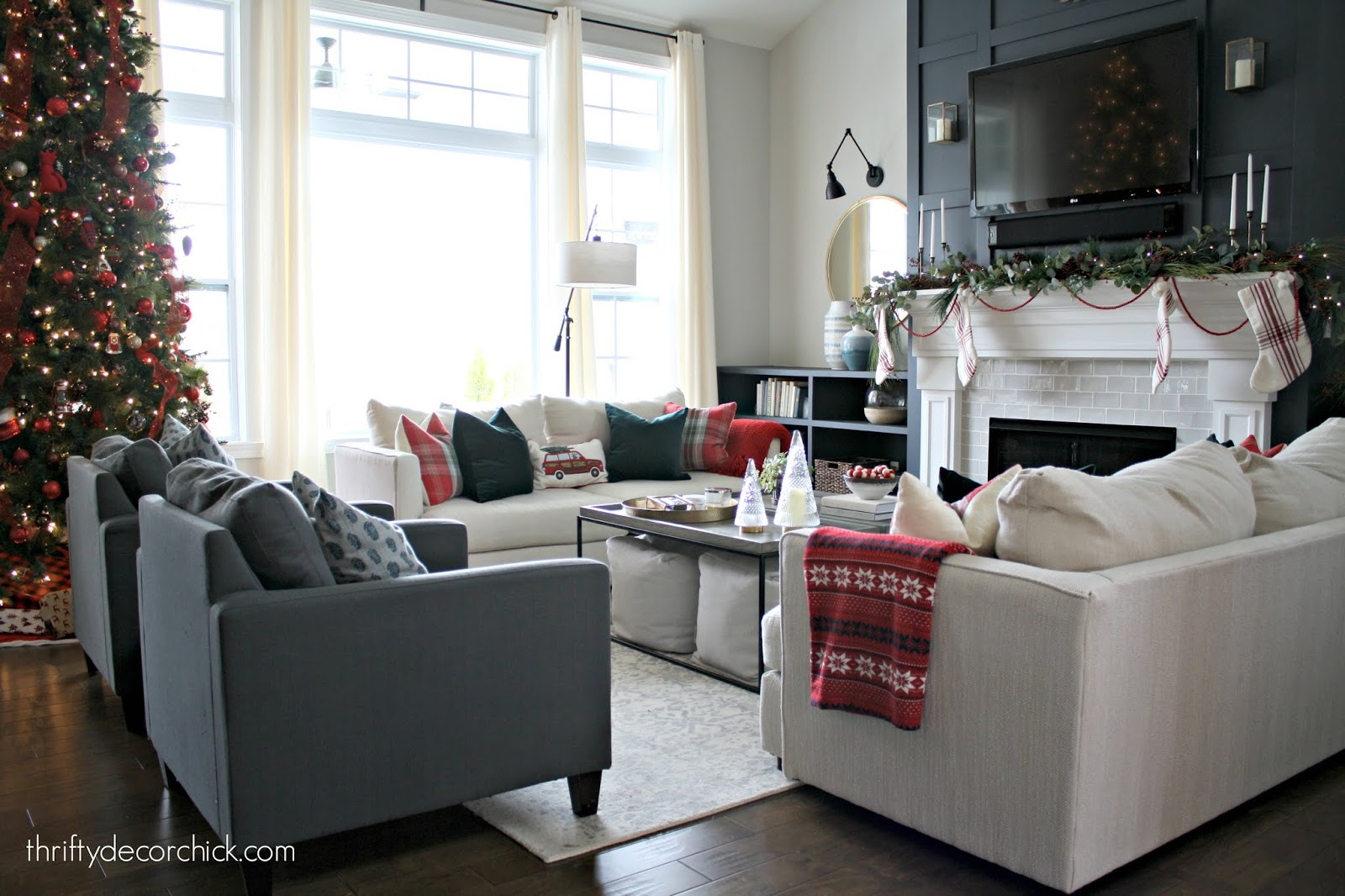 Decorating with red for Christmas