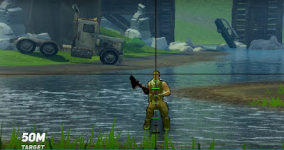 Fortnite BR, Sniper Rifles Guide, Shoot Long Distance, 50 Meter Target