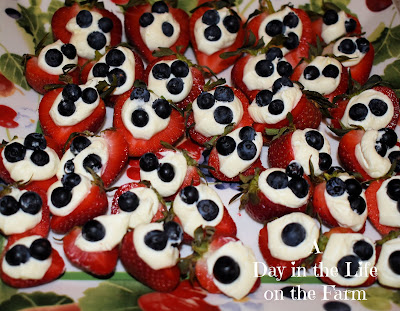 Red White and Blue Strawberry Bites