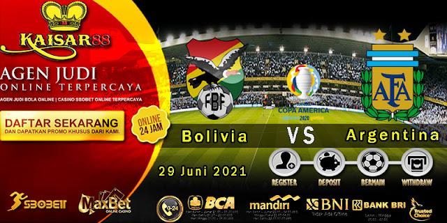 Prediksi Bola Terpercaya Laga Copa America Bolivia vs Argentina 29 juni 2021