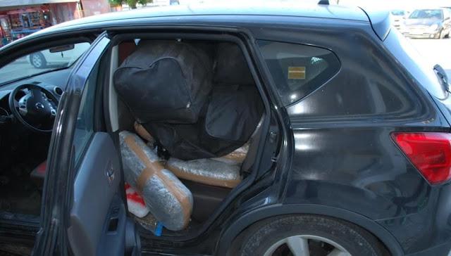 Θεσπρωτία: «Μπλόκο» σε φορτίο με 69 κιλά χασίς,στον Παραπόταμο Θεσπρωτίας
