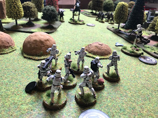 Stormtroopers attack the Rebel AT-RT