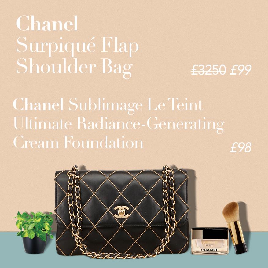 Chanel Surpique Shoulder Bag or CHANEL SUBLIMAGE LE TEINT Ultimate Radiance-Generating Cream Foundation?