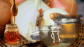 onion juice + honey