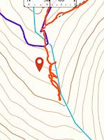 Map for trail to Gloria Falls
