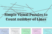 Simple Visual Puzzles to count number of lines
