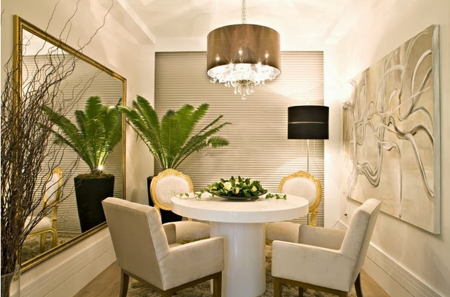Salas de jantar 50 modelos maravilhosos e dicas de como for Decoracion con espejos para salas