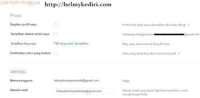 profile blogger