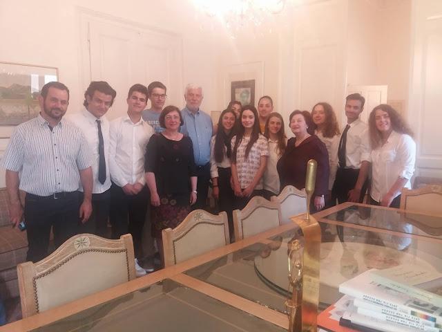 Τον Τατούλη επισκέφθηκαν μαθητές του 4ου ΓΕΛ Τρίπολης και του Παγκύπριου Γυμνασίου Λευκωσίας