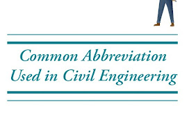 Common Abbreviation Used in Civil Engineering