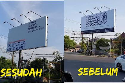 Sudah Bayar 1 Bulan, Baliho Tauhid di Solo Tiba-tiba Menghilang! Faktanya Mengejutkan!