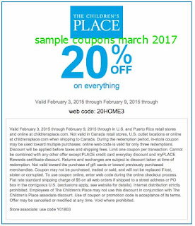 Childrens Place coupons march 2017