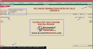 how enter gst sales entry in tally_lesson_6