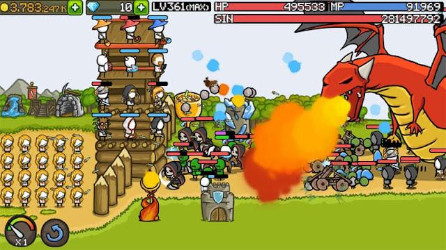 تحميل Grow Castle – لعبة حماية القلعة مهكرة للاندرويد [اخر اصدار]