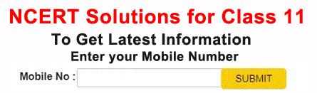 NCERT Solutions Class 11th