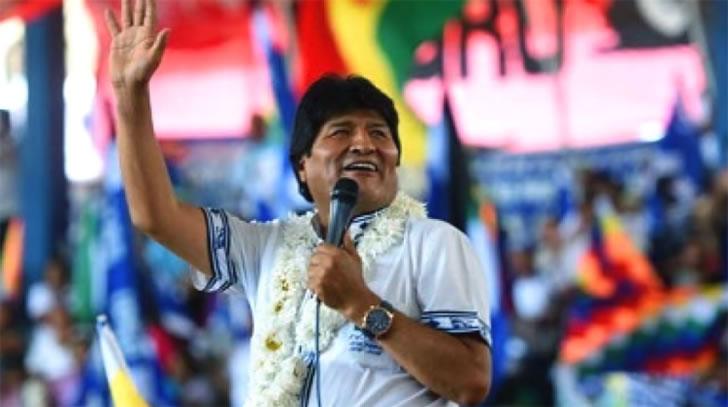 Evo Morales durante el Congreso del MAS