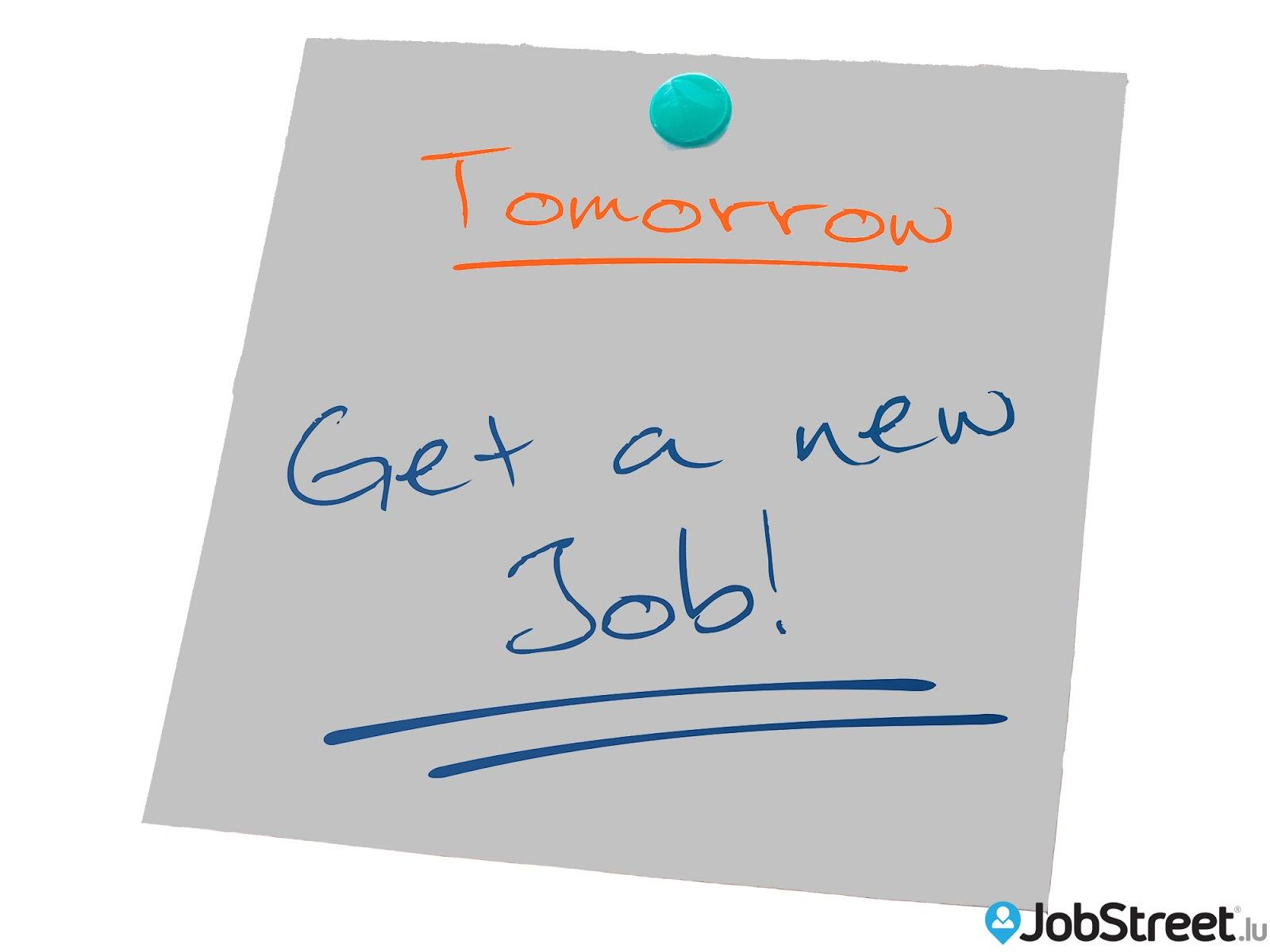 jobstreet lu  c u0026 39 est d u00e9cid u00e9  demain je change de job