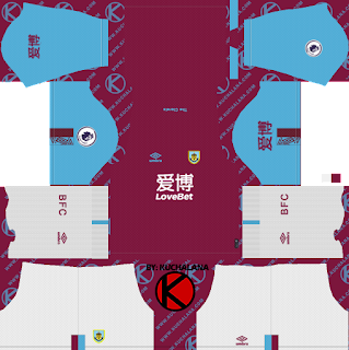 Burnley FC 2019/2020 Kit - Dream League Soccer Kits
