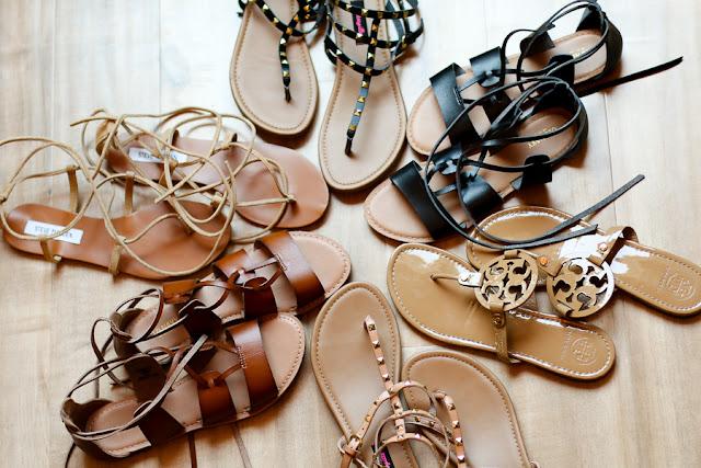 parlor girl sumer sandal picks lace up logo studs