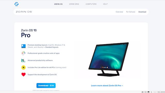 A versão Pro do Zorin OS serve como opção ao Windows