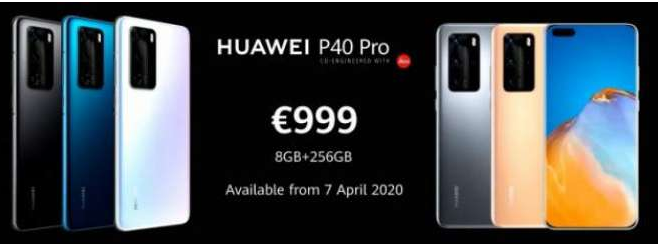 Huawei Introduces P40 Pro with 50 Megapixel Camera and P40 Pro with 5x Telecom