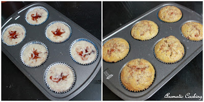 Aromatic Cooking Eggless Jam Swirled Muffins