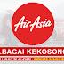AirAsia Malaysia Buka Pengambilan Pelbagai Kekosongan Jawatan Terkini ~ Mohon Sekarang!