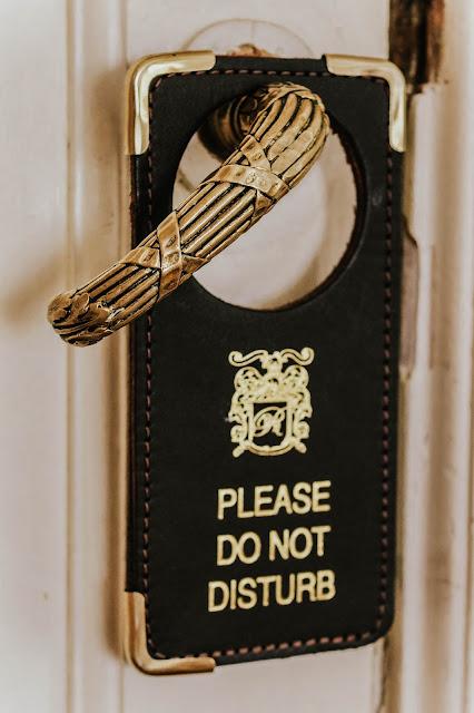 Please Do Not Disturb luxury door sign