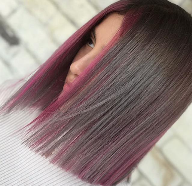 short purple hair color 2021