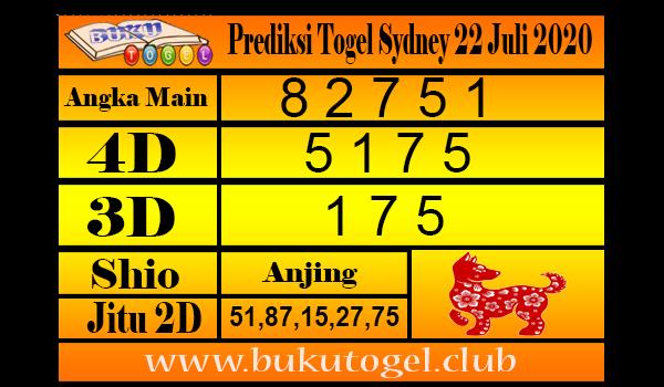 Prediksi Togel Sydney 22 Juli 2020