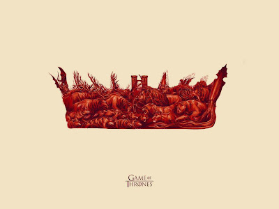 """The Battle"" Game of Thrones Blood Edition Screen Print by Phantom City Creative"