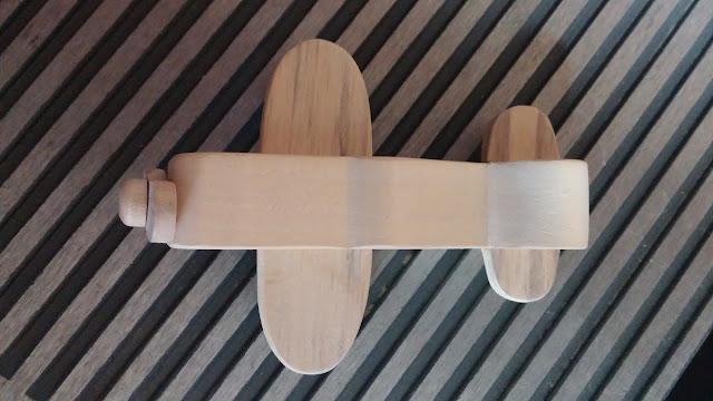 Handmade Wood Toy Experimental Airplane Version 3