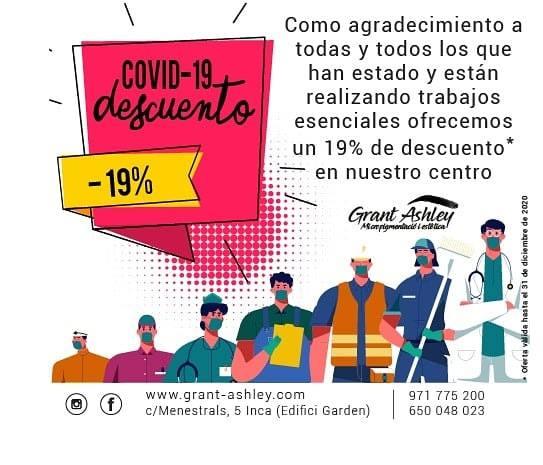 19% de descuento para trabajadores esenciales
